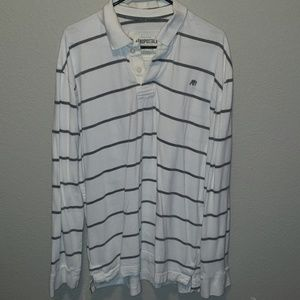3for$20 Aeropostale striped collared long sleeve